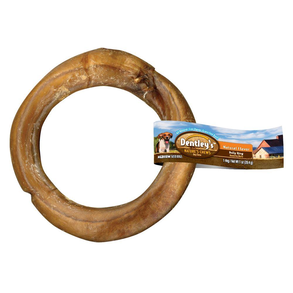 Dentleys Natures Chew Bully Ring Dog Treat Size Medium/large