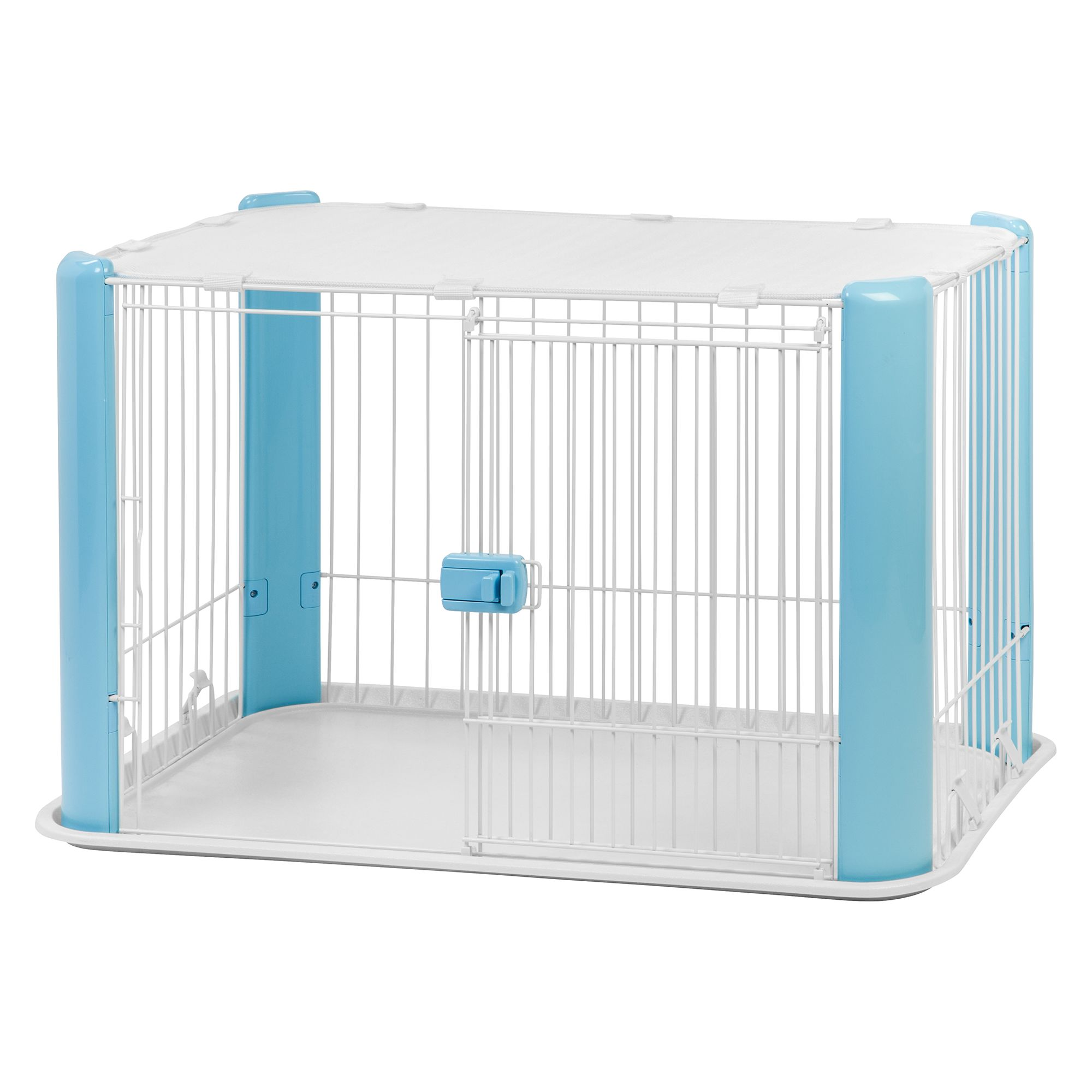 Iris Wire Play Pen with Removable Roof, Blue