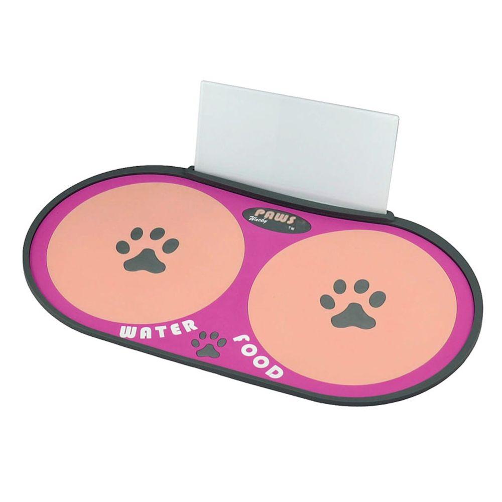 Wacky Paws Feeding Mat Size 15l X 7.9w Pink