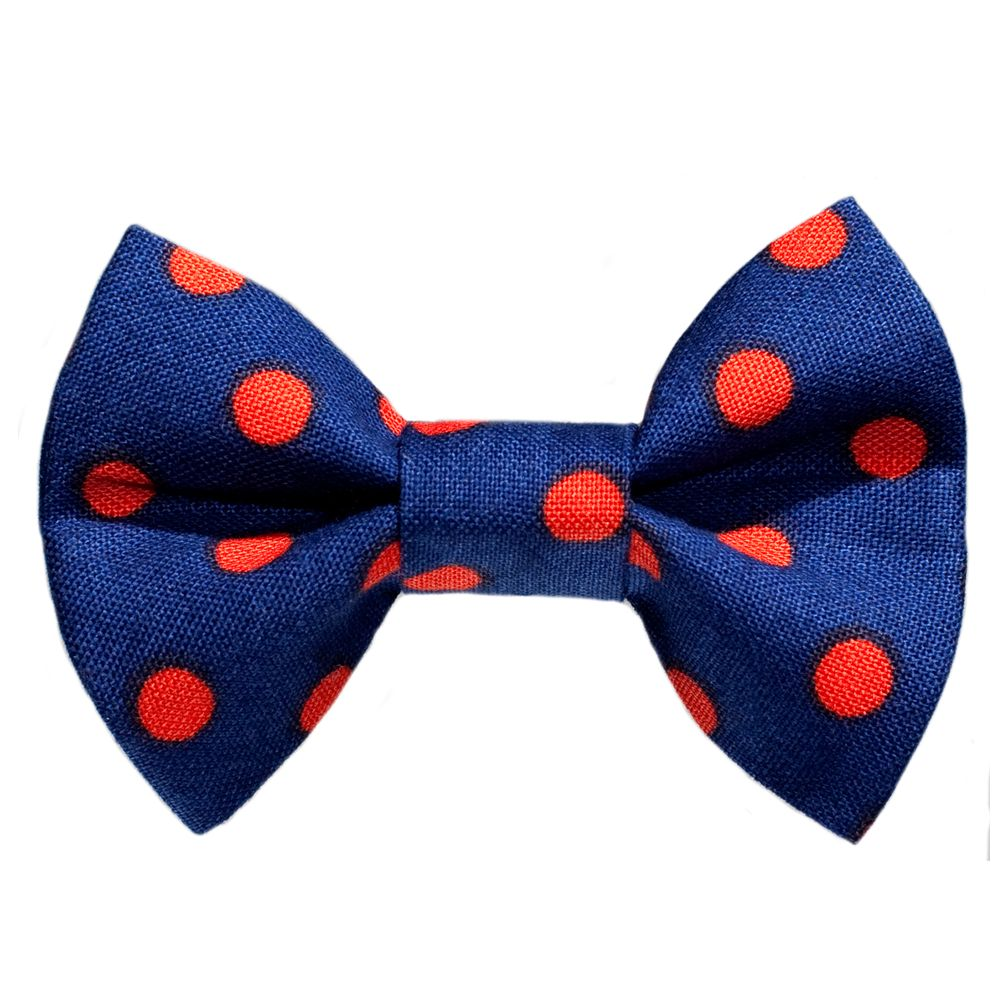 Sweet Pickles The Freshman Cat Bow Tie Size 2.5l X 1.5w Blue