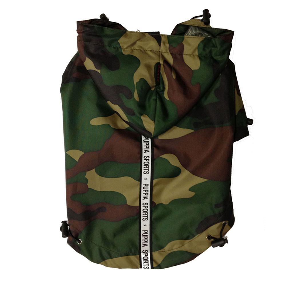 Puppia Base Jumper Dog Raincoat Size 2x Large Camouflage