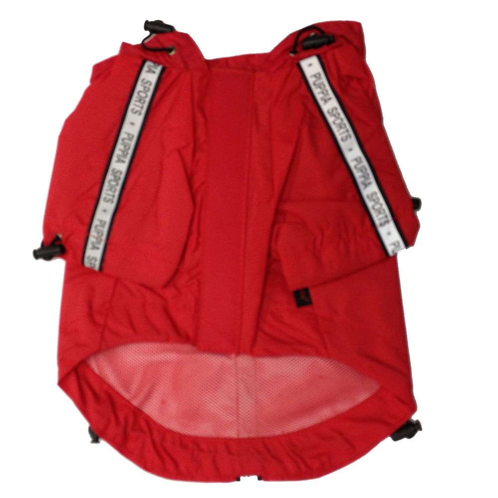 Puppia Base Jumper Dog Raincoat Size 2x Large Red