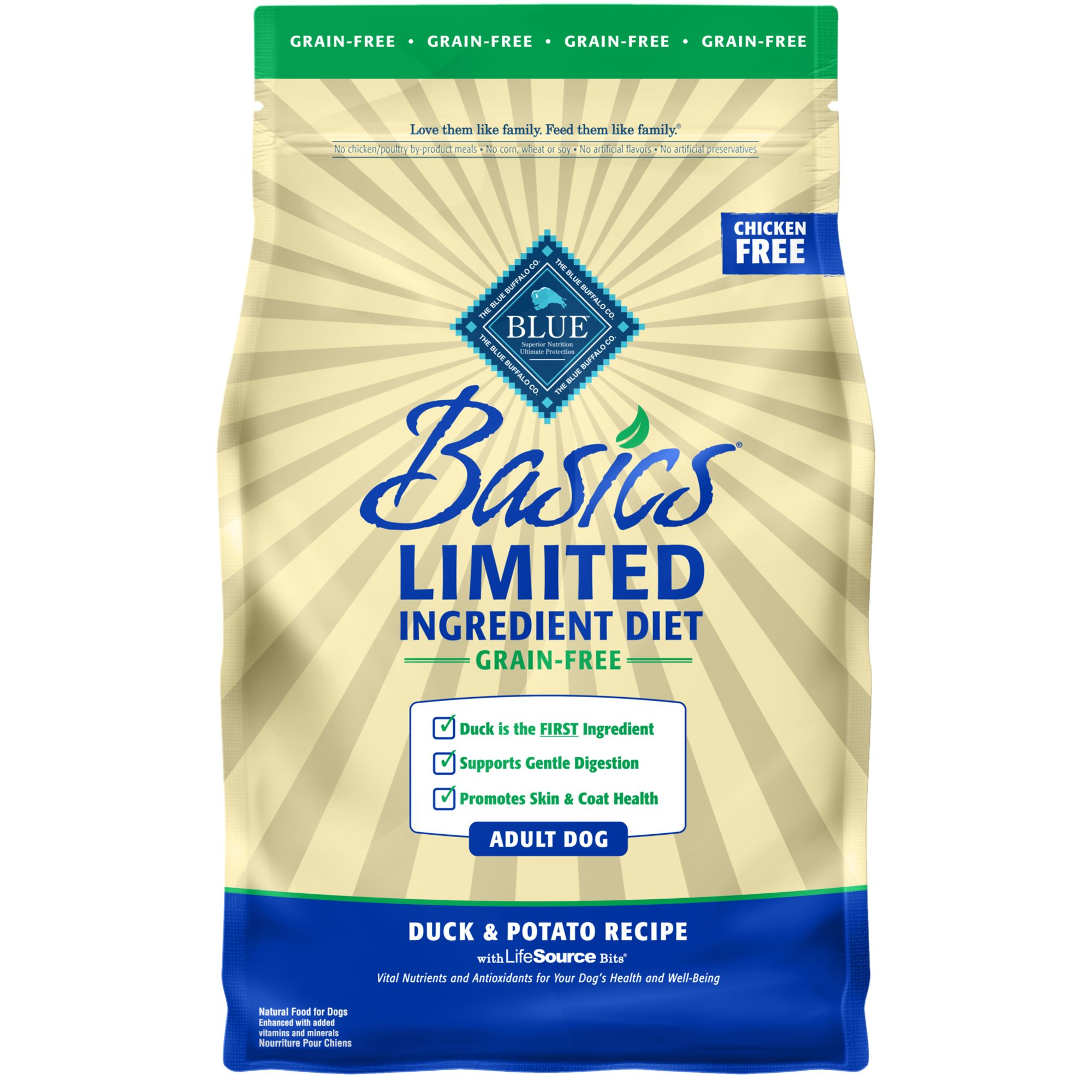 Blue Basics Limited Ingredient Grain Free Dog Food