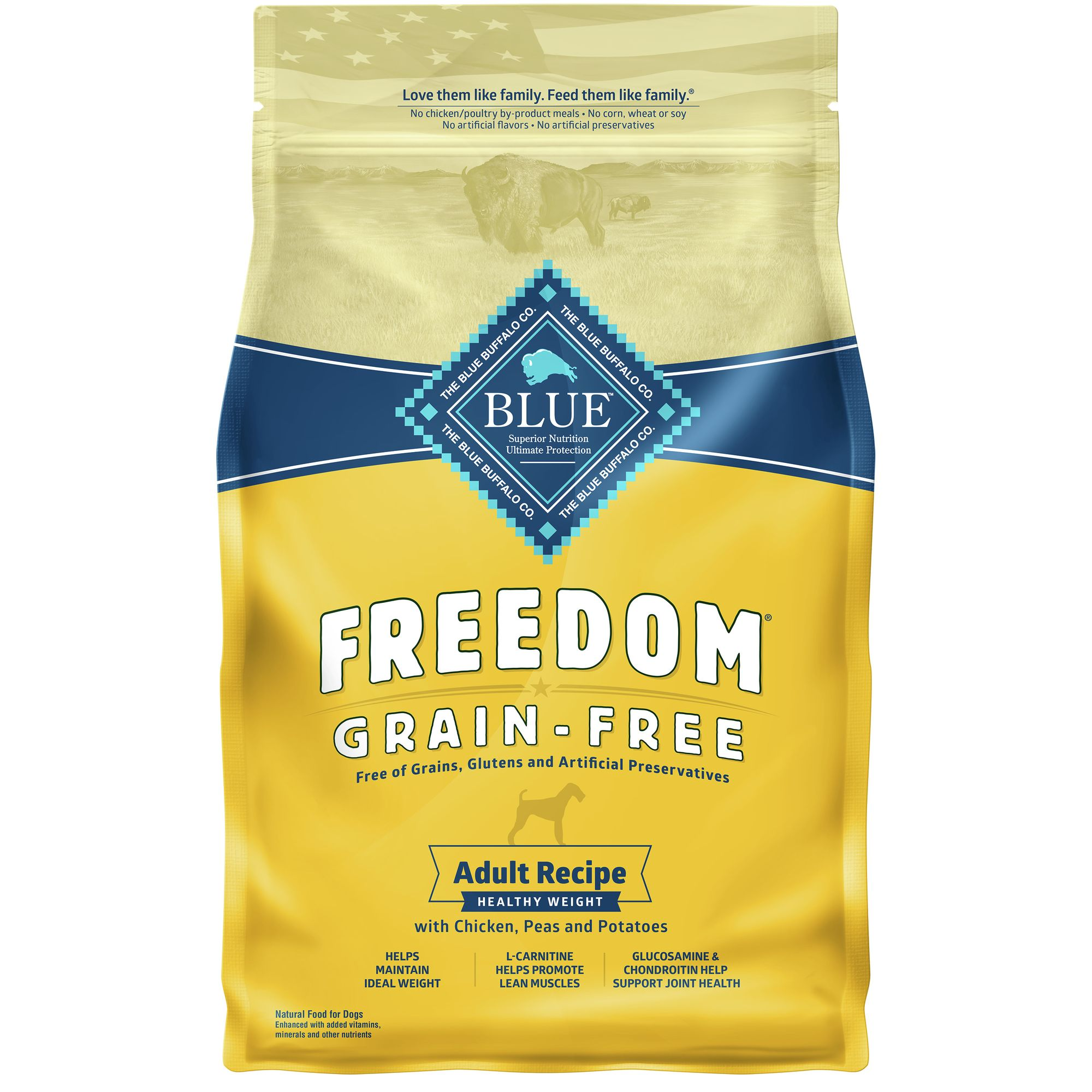 Blue Freedom® Healthy Weight Adult Dog Food - Grain Free, Gluten Free, Chicken size: 4 Lb 5209374