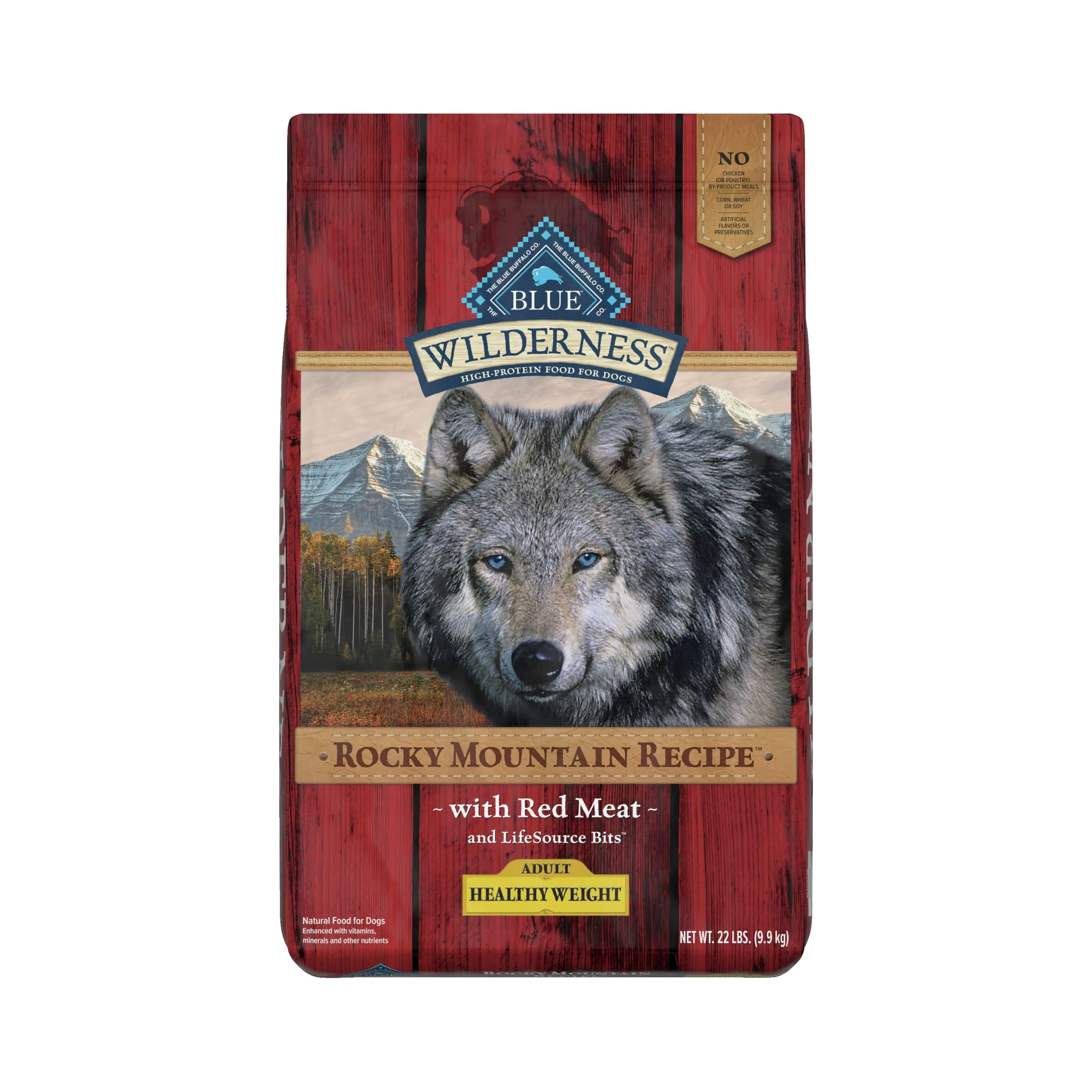 Blue Wilderness Rocky Mountain Recipe, Grain Free Healthy Weight Adult Dog Food size: 22 Lb, Blue Buffalo