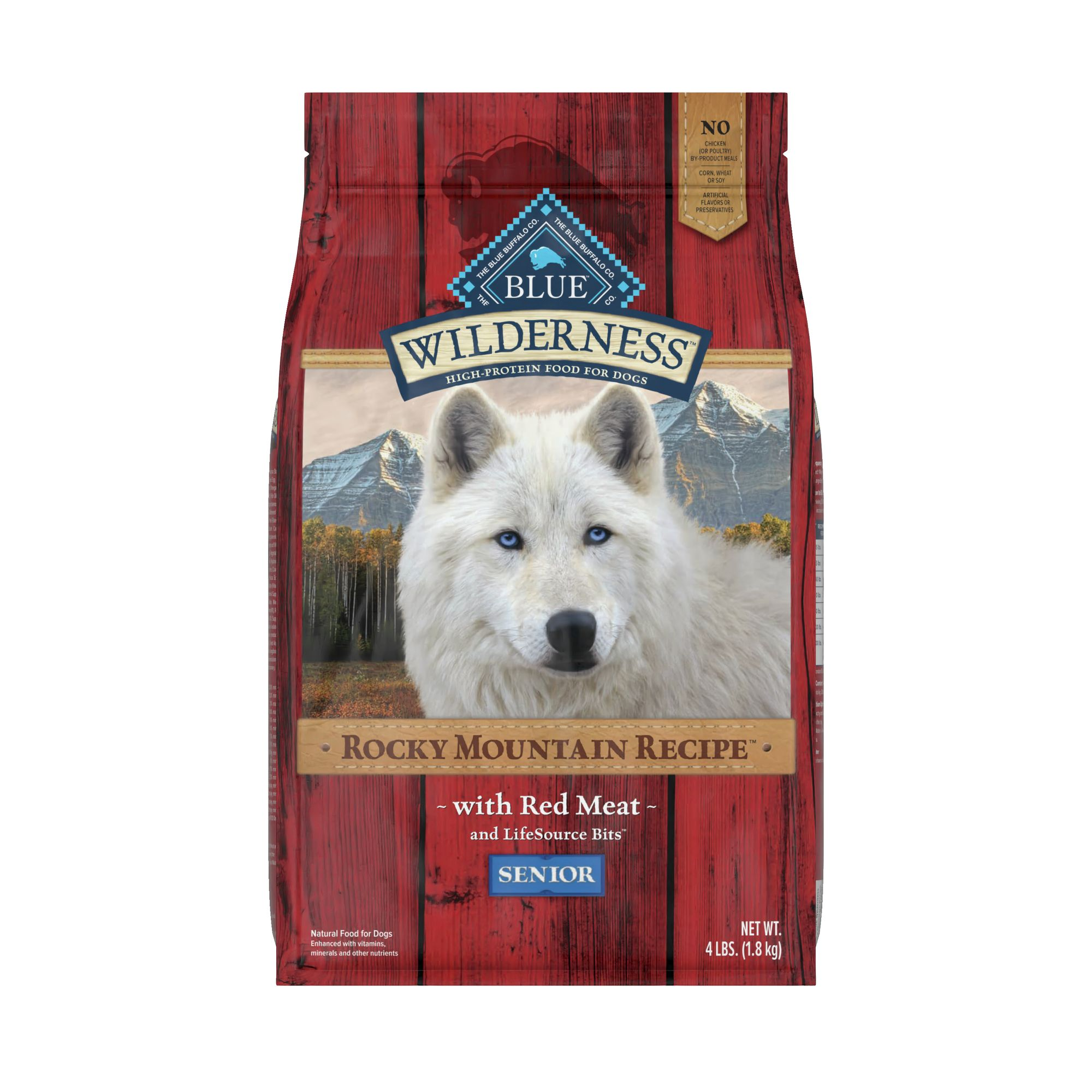 Blue Wilderness® Rocky Mountain Recipe, Grain Free Senior Dog Food size: 4 Lb 5209551