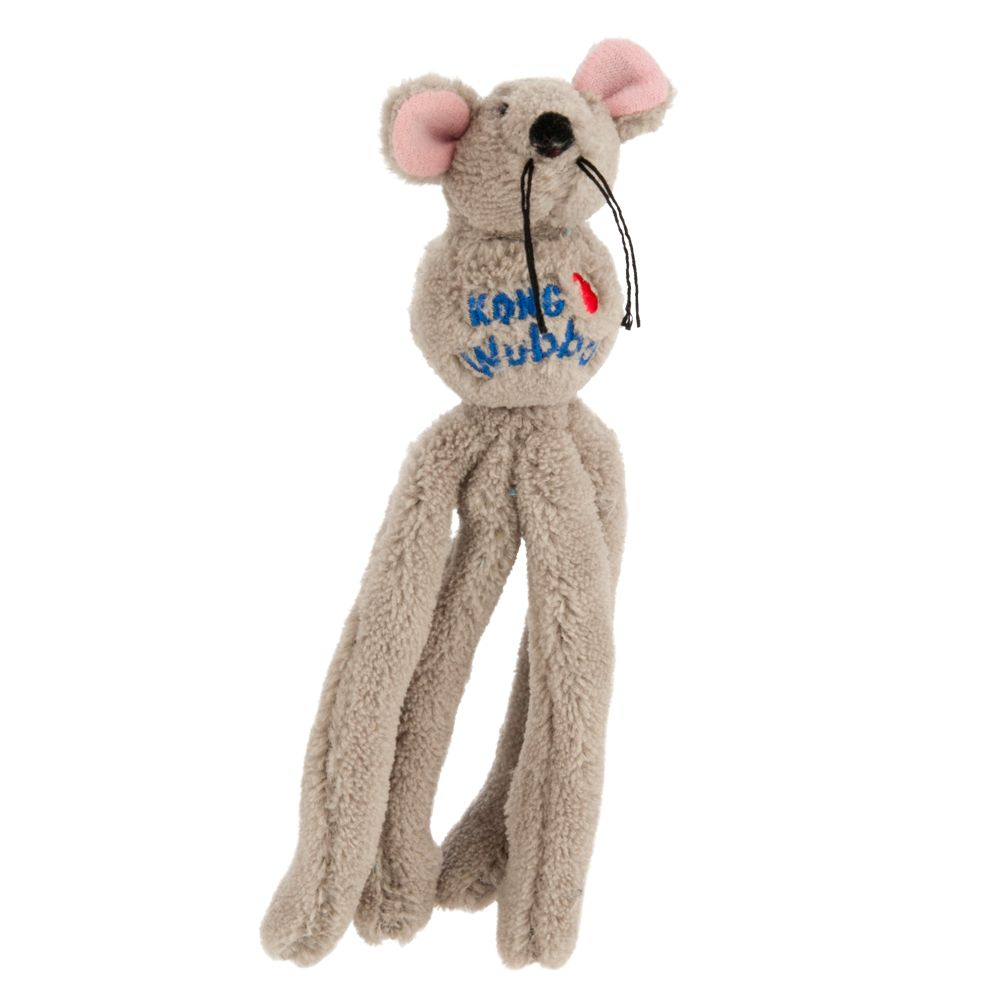 Kong Wubba Mouse Cat Toy, Gray 5209563