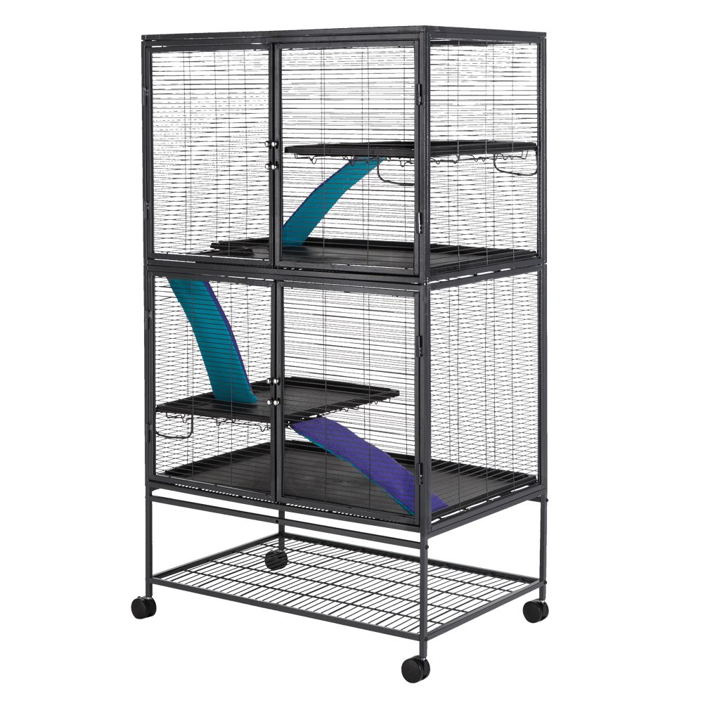 All Living Things Multi-Level Small Animal Cage, Black 5209800