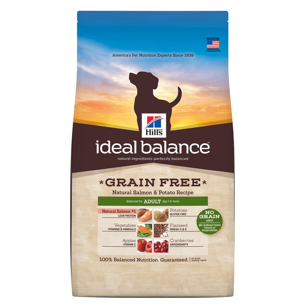 Hills® Ideal Balance, Grain Free Adult Dog Food - Natural Salmon and Potato size: 21 Lb 5210275