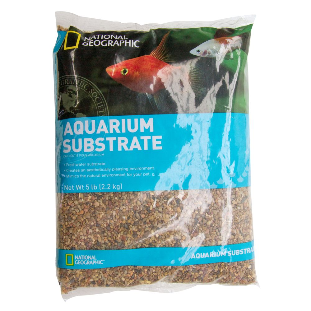 National Geographic Aquarium Substrate Size 5 Lb Brown