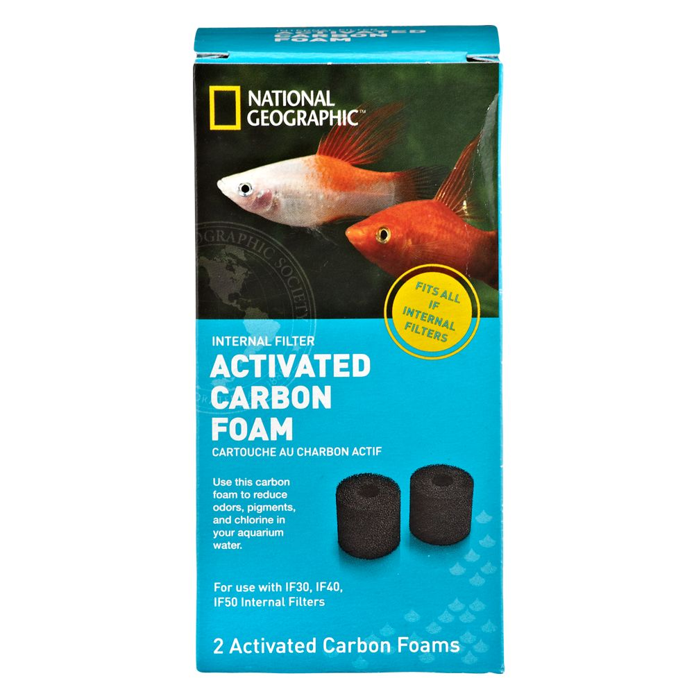National Geographic Activated Filter Carbon Foam Size 2 Count