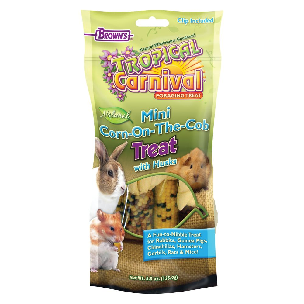 Tropical Carnival Corncob Small Animal Treat Size 5.5 Oz