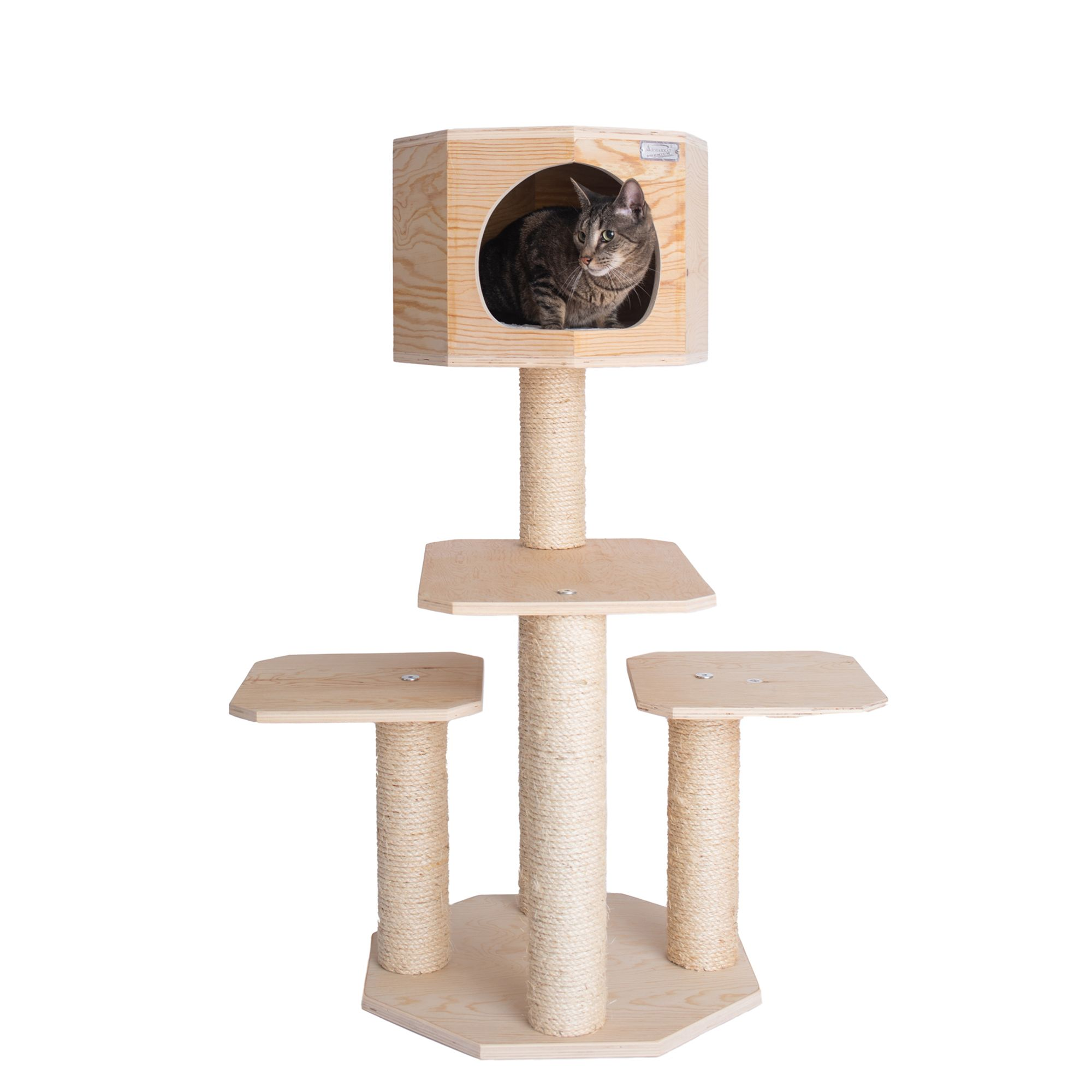 Amarkat Post And House Cat Tree Beige Armarkat