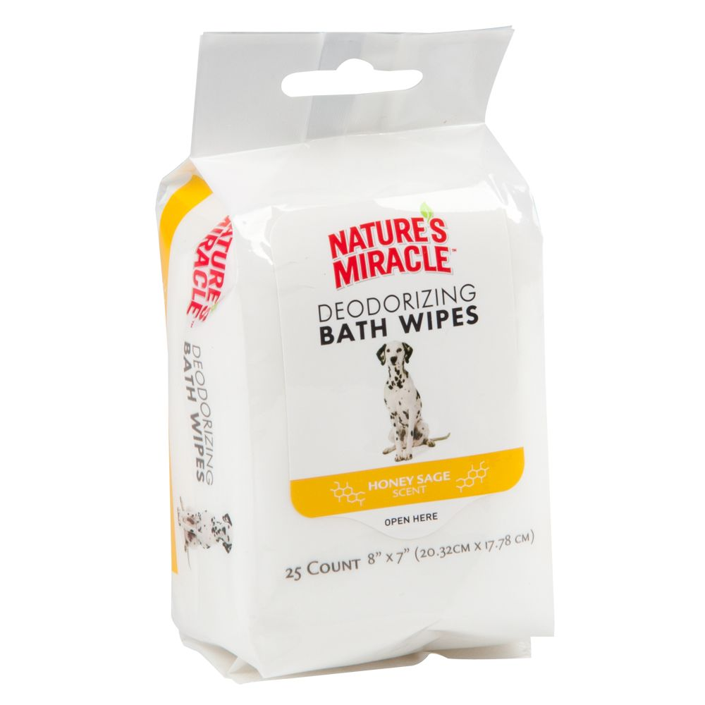 Nature's Miracle, Dog Bath Wipe size: 25 Count 5210981