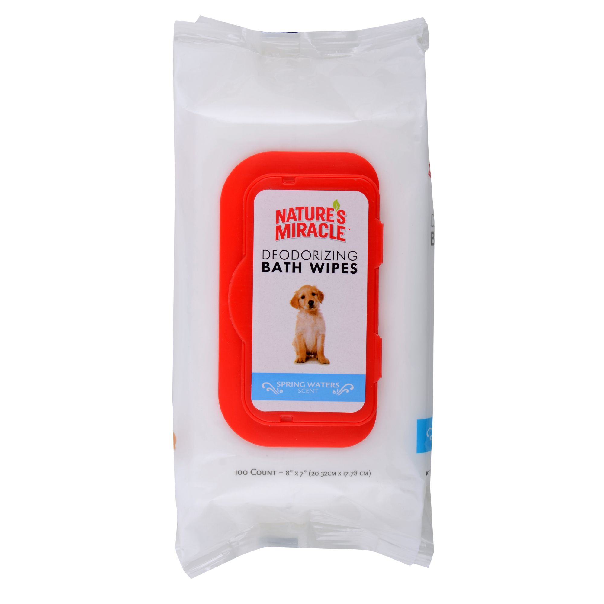 Nature's Miracle Deodorizing Dog Bath Wipes size: 100 Count 5211008