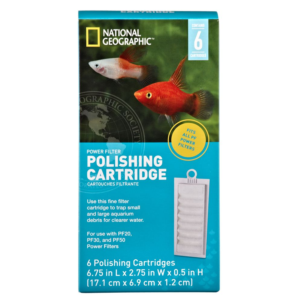 National Geographic Polishing Aquarium Cartridge Size 6 Count