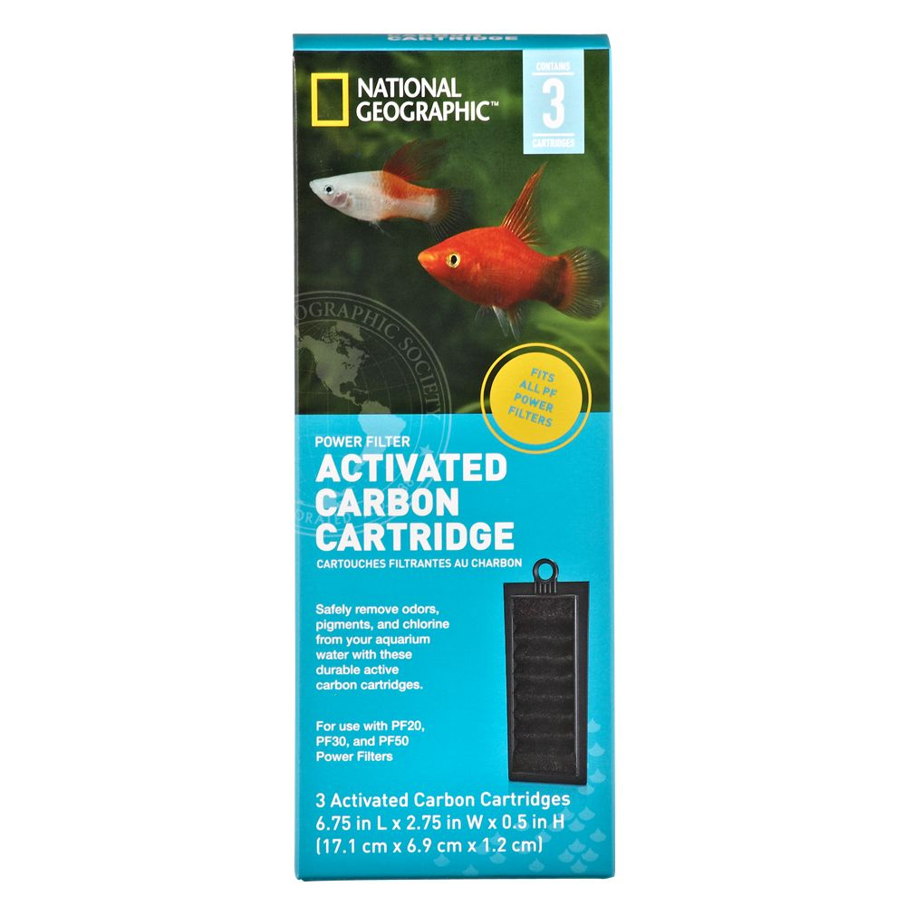 National Geographic Activated Carbon Power Filter Cartridge Size 3 Count