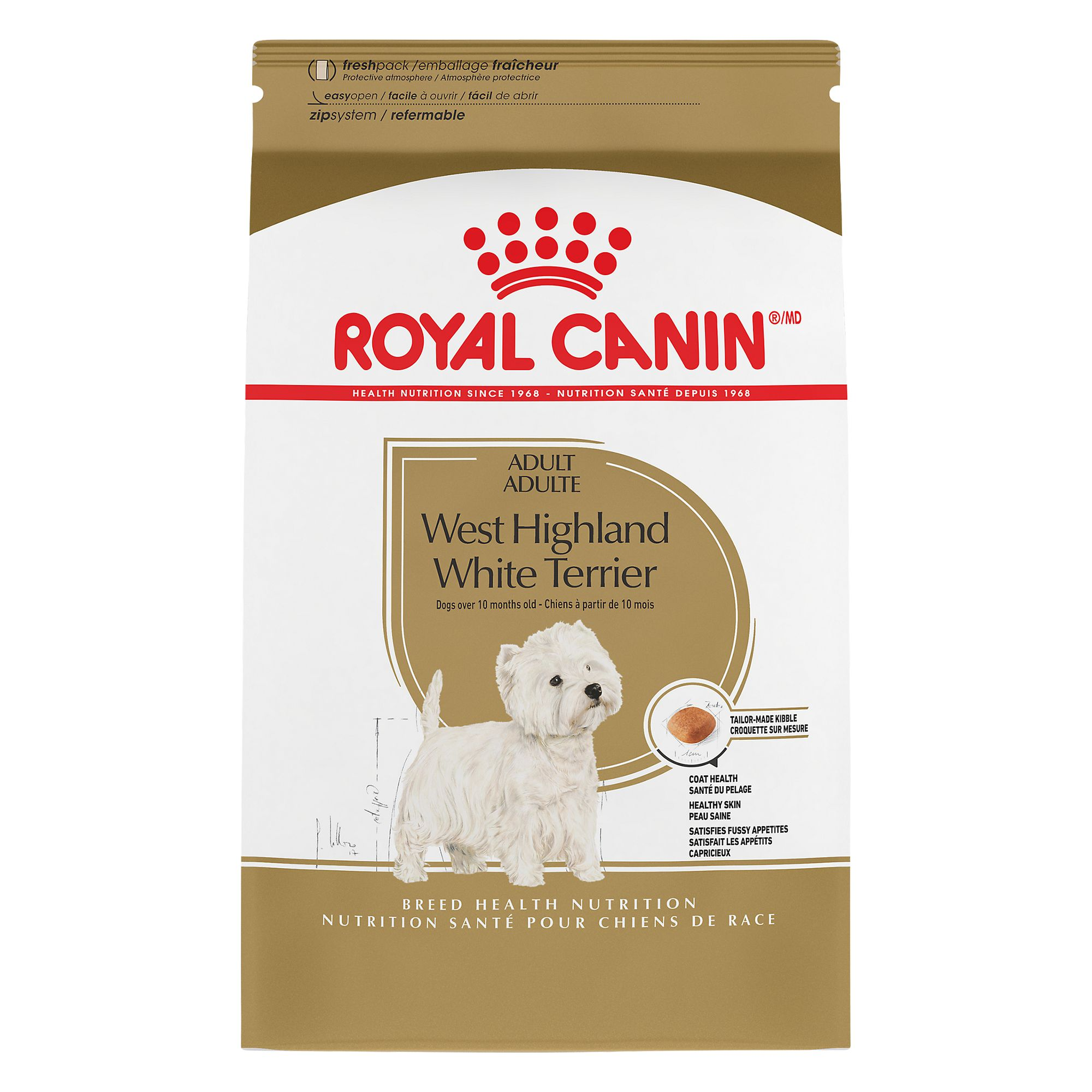 Royal Canin Breed Health Nutrition, West Highland White Terrier Adult Dog Food size: 2.5 Lb, Kibble, Brewer's Rice 5211542
