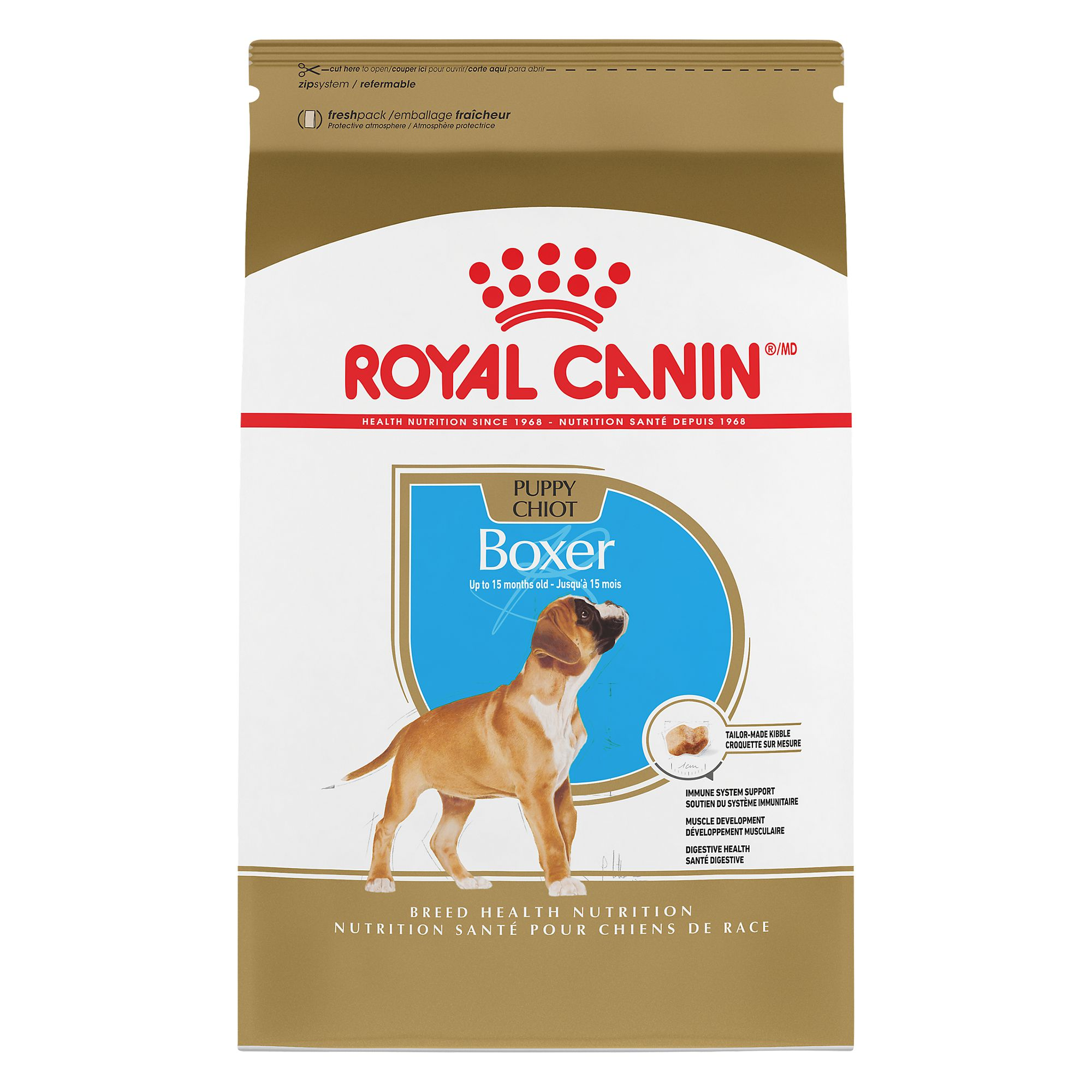 Royal Canin® Breed Health Nutrition, Boxer Puppy Food size: 30 Lb 5211605