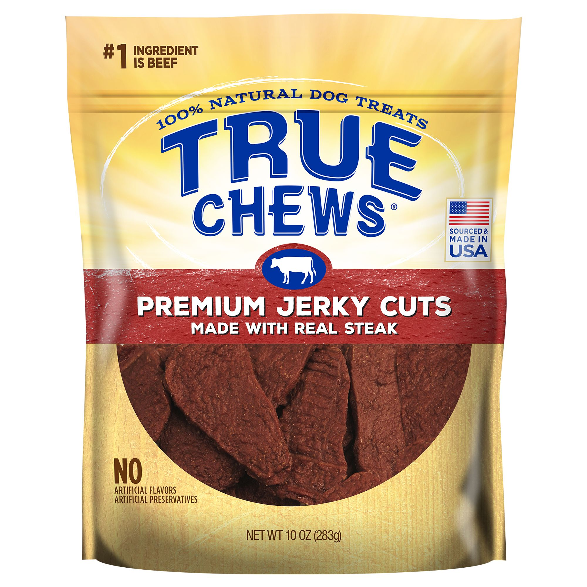 True Chews Premium Jerky Cuts Dog Treat - Natural, Sirloin Steak size: 12 Oz, Beef, Puppy to Senior 5211712