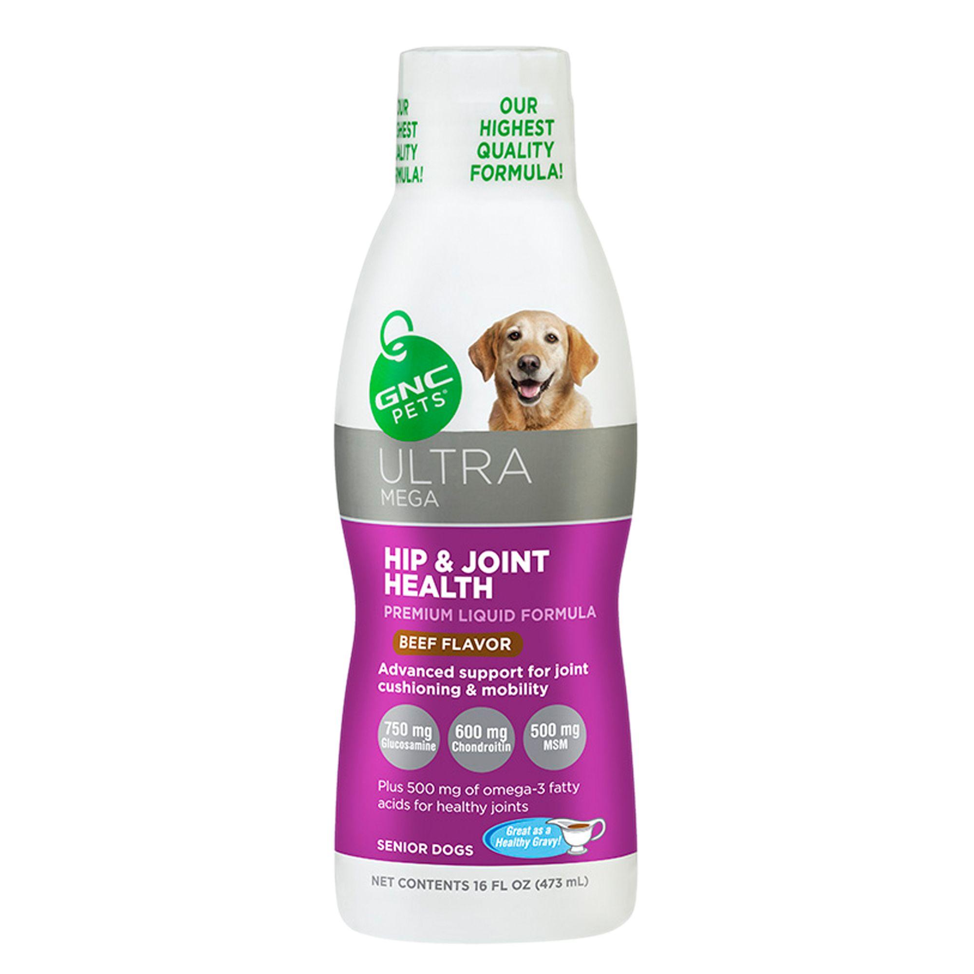 GNC Pets® Ultra Mega Hip and Joint Health Liquid Formula size: 16 Fl Oz 5212276