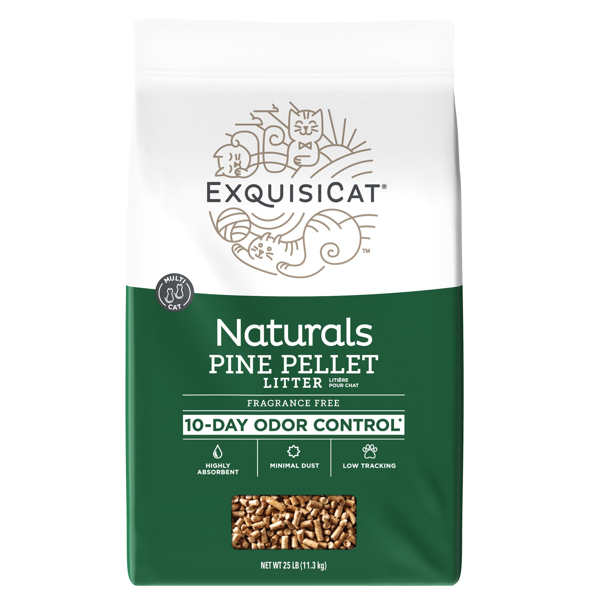 Exquisicat Naturals Pine Cat Litter Size 25 Lb