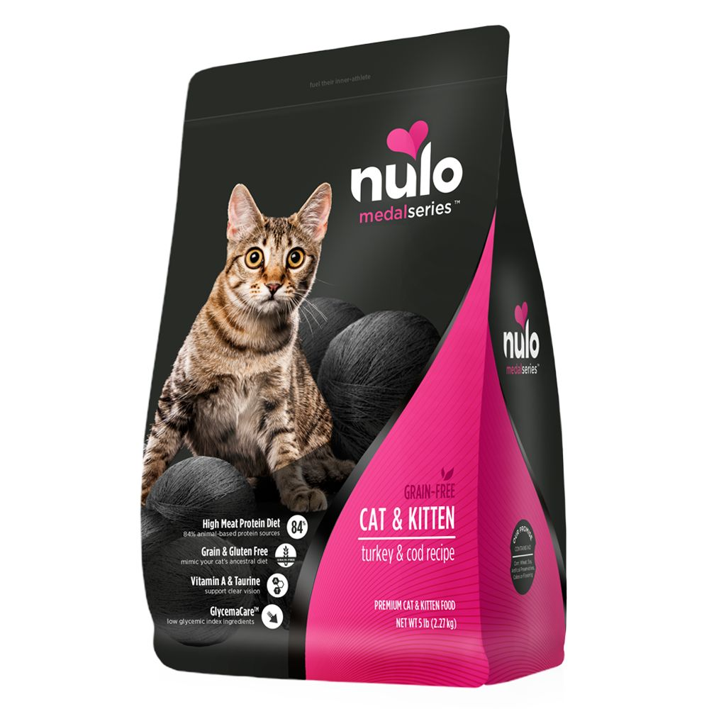 Nulo Medalseries Cat And Kitten Food Grain Free Turkey And Cod Size 5 Lb