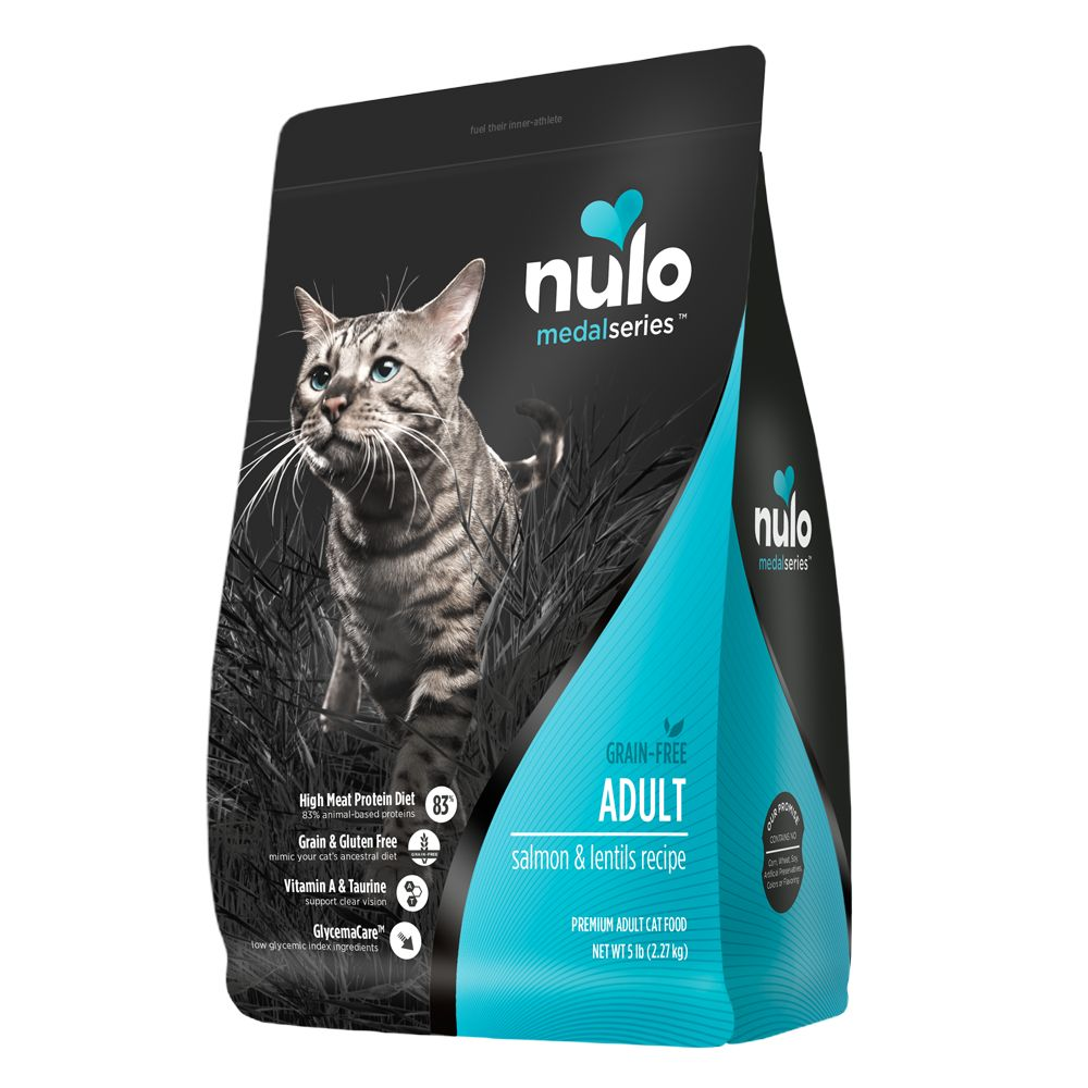 Nulo Medalseries Adult Cat Food Grain Free Salmon And Lentils Size 5 Lb