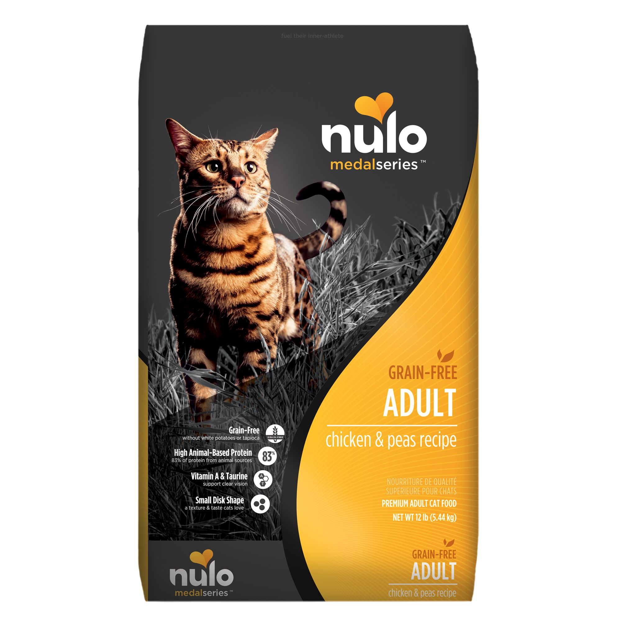 Nulo Medalseries Adult Cat Food Grain Free Chicken And Peas Size 12 Lb
