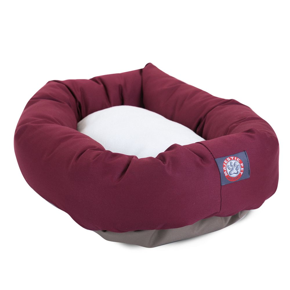 "Majestic Pet Products Bagel Dog Bed size: 40""L x 29""W x 9""H, Red"