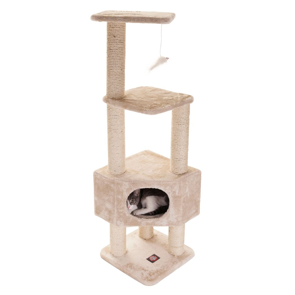 Majestic Pet 52 Casita Cat Tree Beige