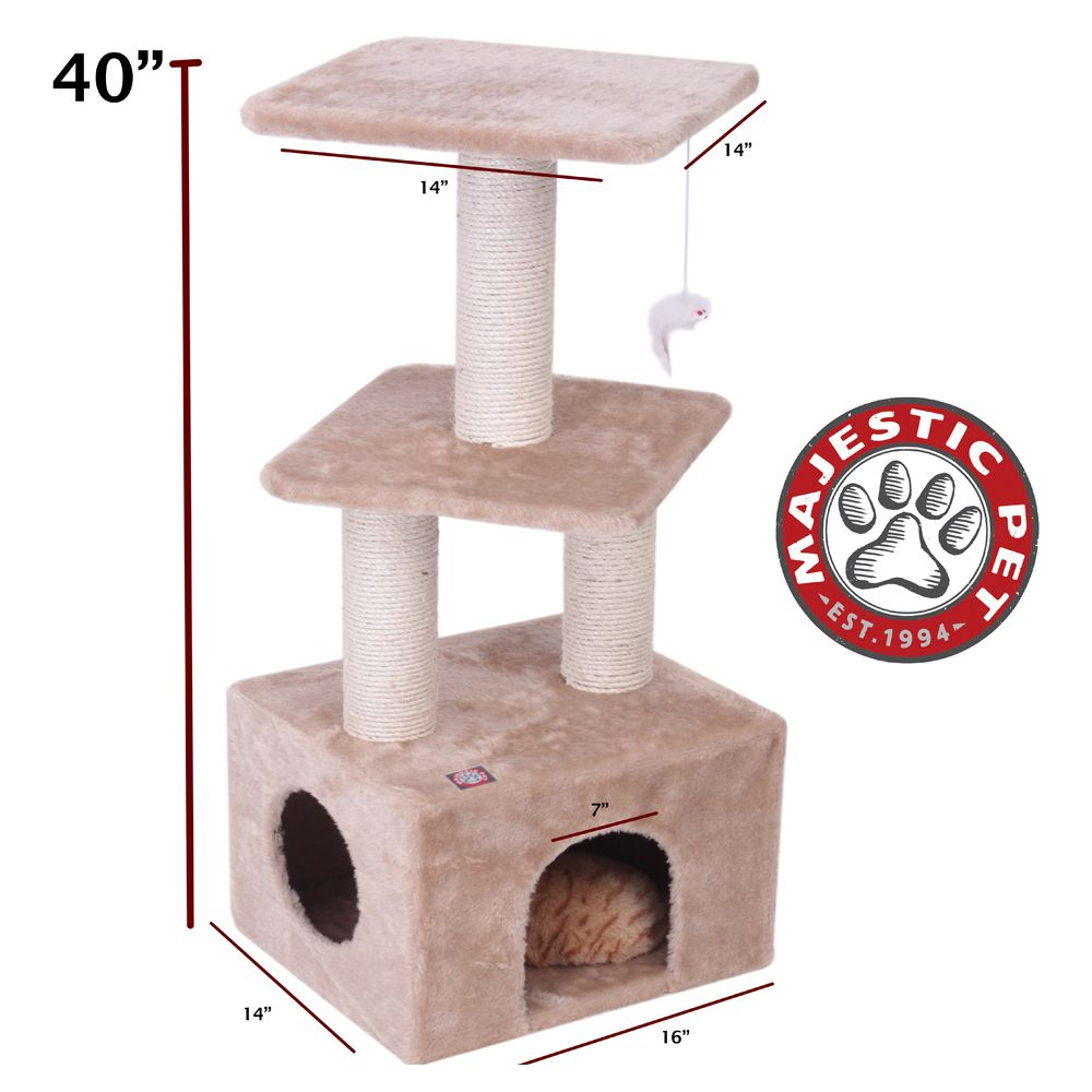 Majestic Pet 40 Casita Cat Tree Tan