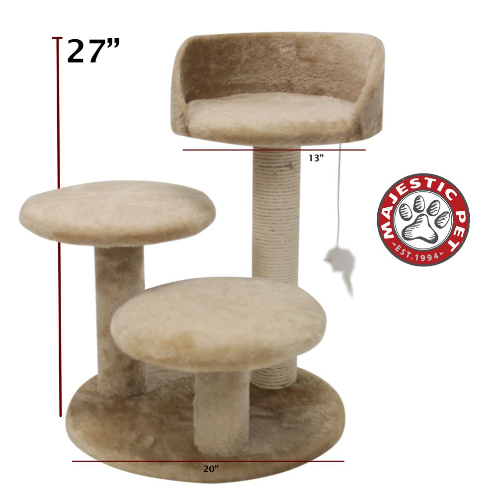 Majestic Pet 27 Casita Cat Tree Tan