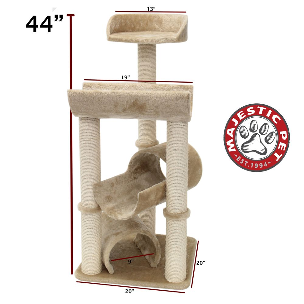 Majestic Pet 44 Casita Cat Tree Beige