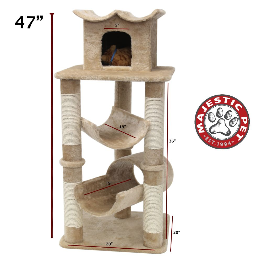 Majestic Pet 47 Casita Cat Tree Beige