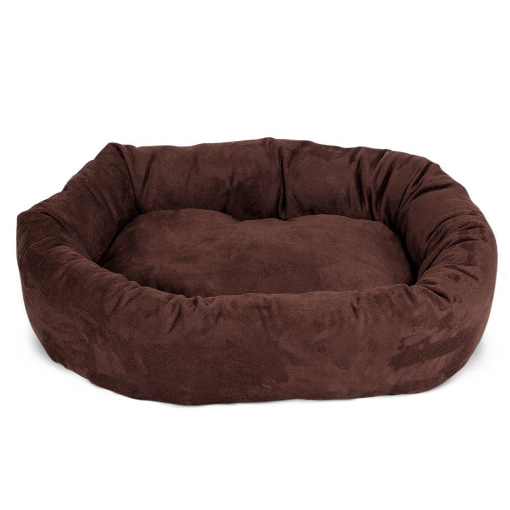 "Majestic Pet Products Bagel Dog Bed size: 32""L x 23""W x 7""H, Brown"