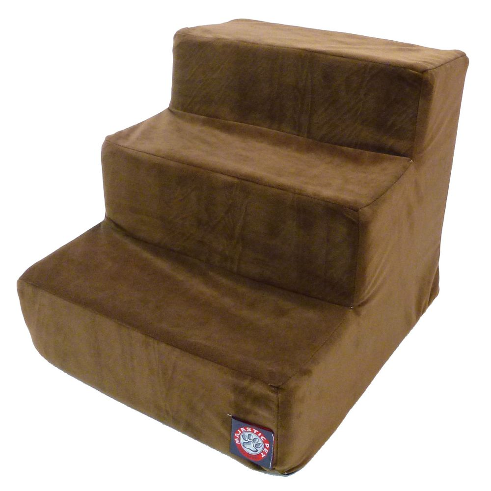Majestic Pet 3 Step Pet Stairs Brown