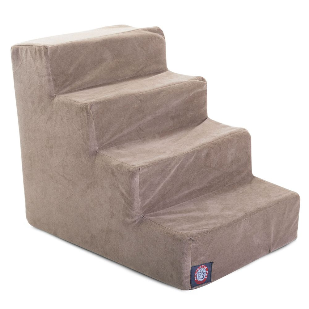 Majestic Pet Products 4 Step Pet Stairs Grey