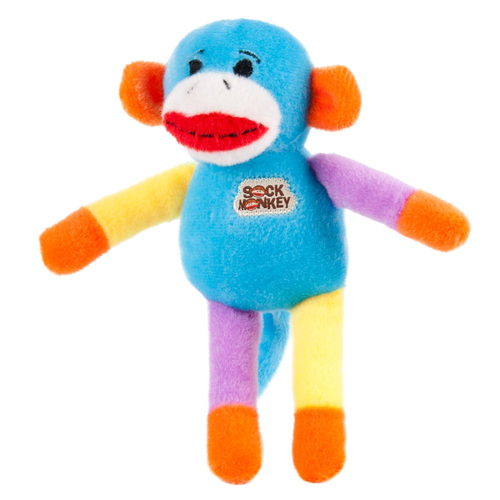 Puppiesrus Sock Monkey Dog Toy Color Varies Size Small Multi Color Toys R Us