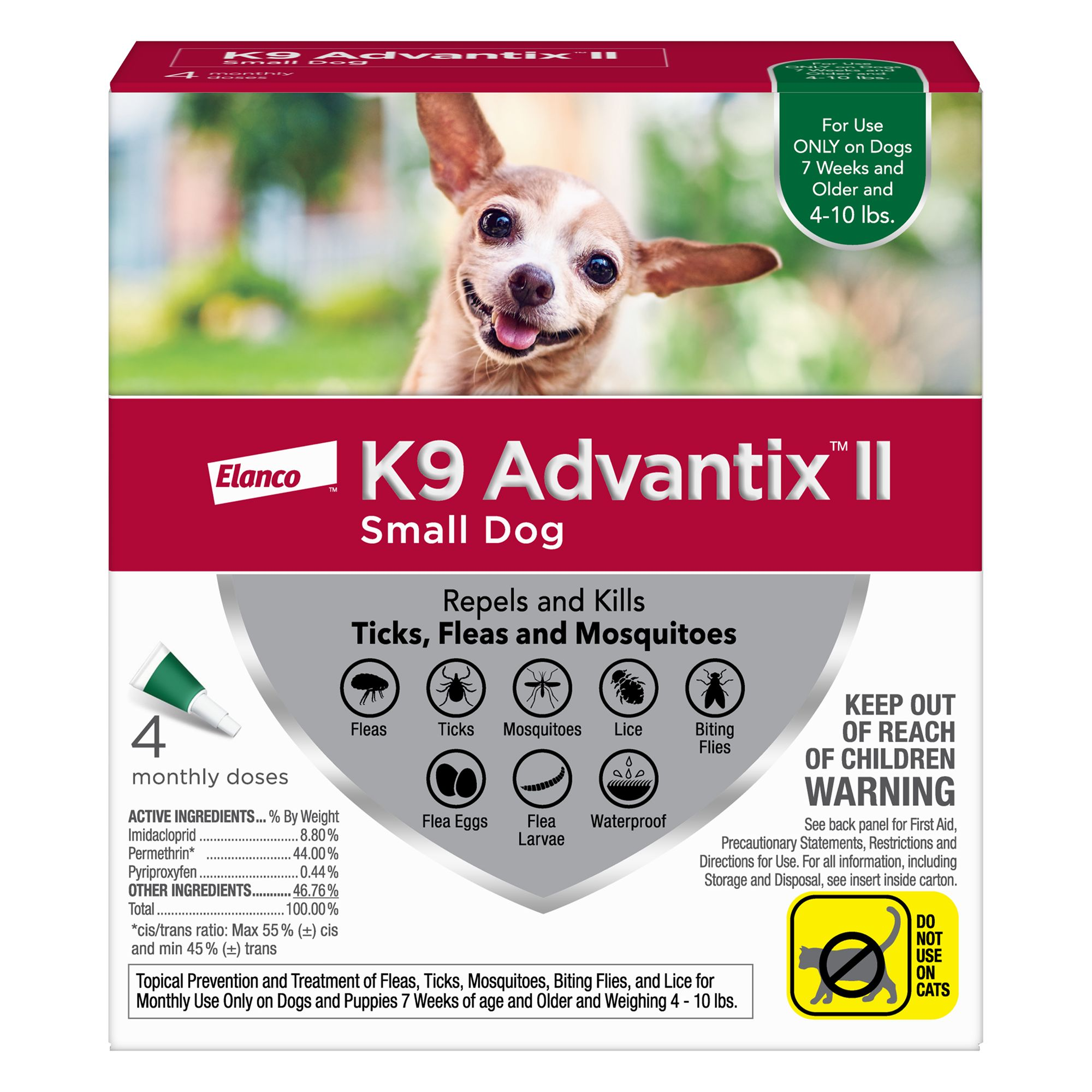 K9 Advantix Ii Under 10 Lbs Dog Flea And Tick Treatment Size 4 Count
