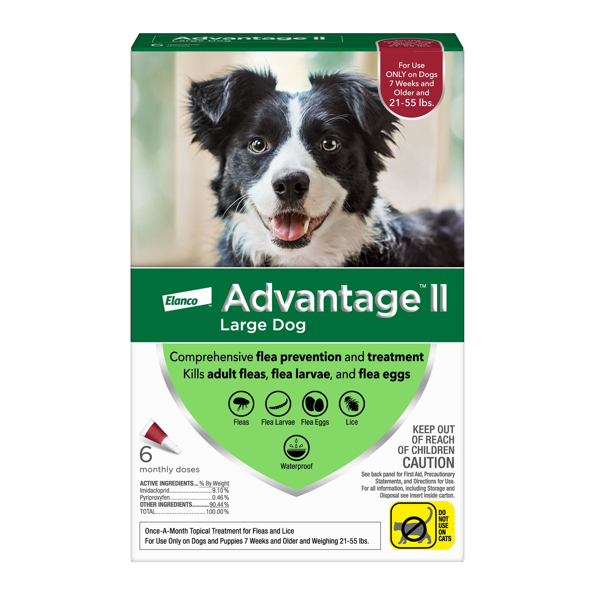 Advantage® II 21-55 Lb Dog Flea and Lice Treatment size:
