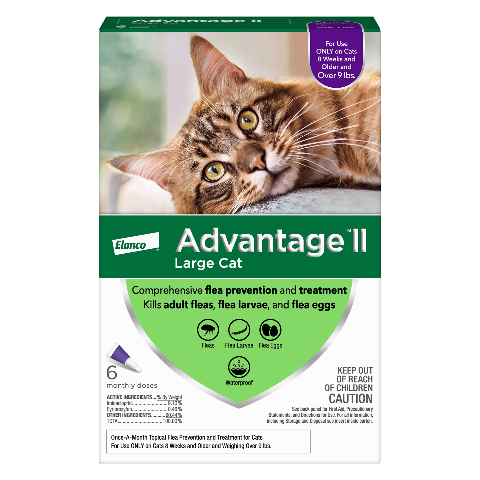 Advantage Ii Over 9 Lbs Cat Flea Prevention And Treatment Size 6 Count