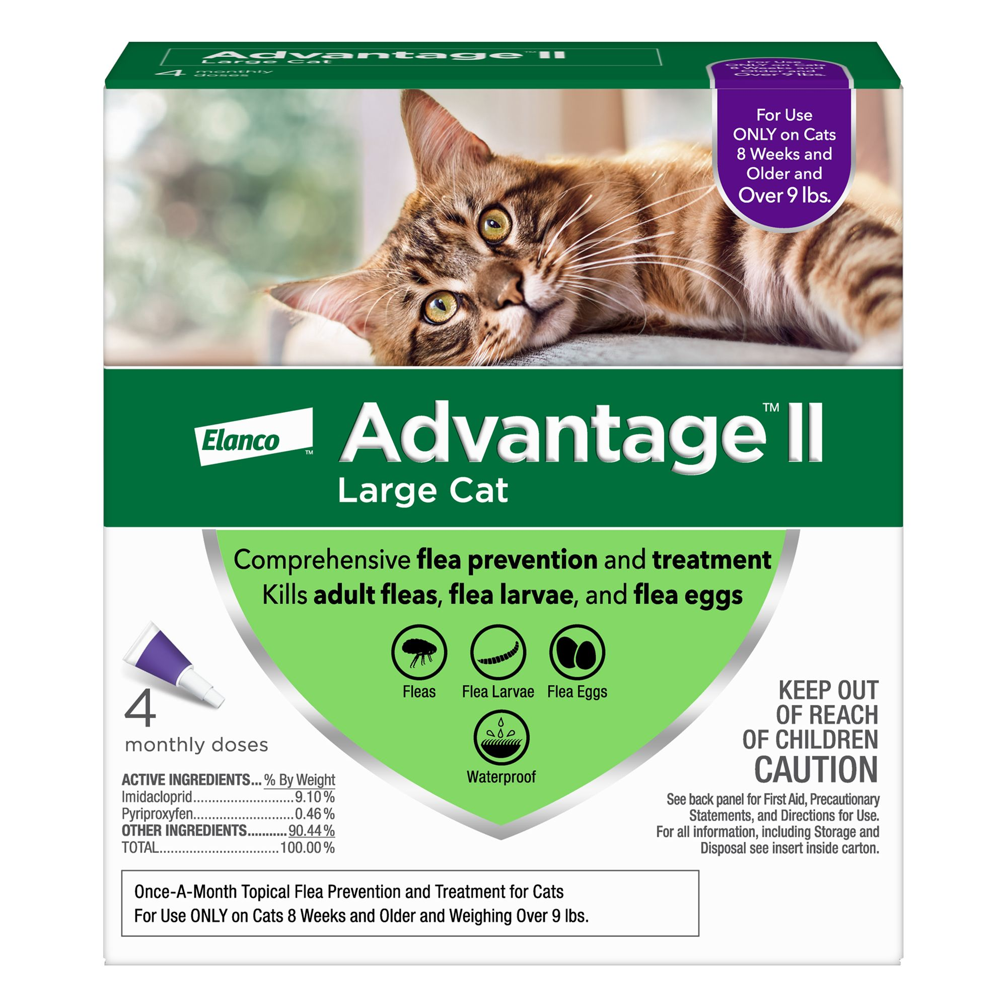 Advantage Ii Over 9 Lbs Cat Flea Prevention And Treatment Size 4 Count