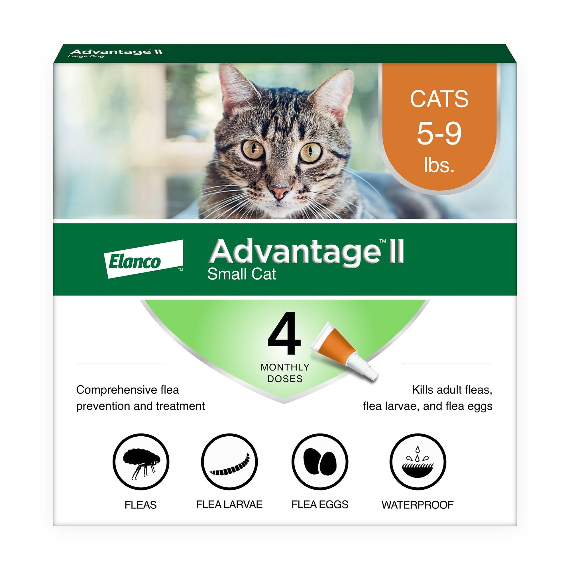 Advantage® II 5-9 Lb Cat Flea Prevention and Treatment size: 4 Count 5214376