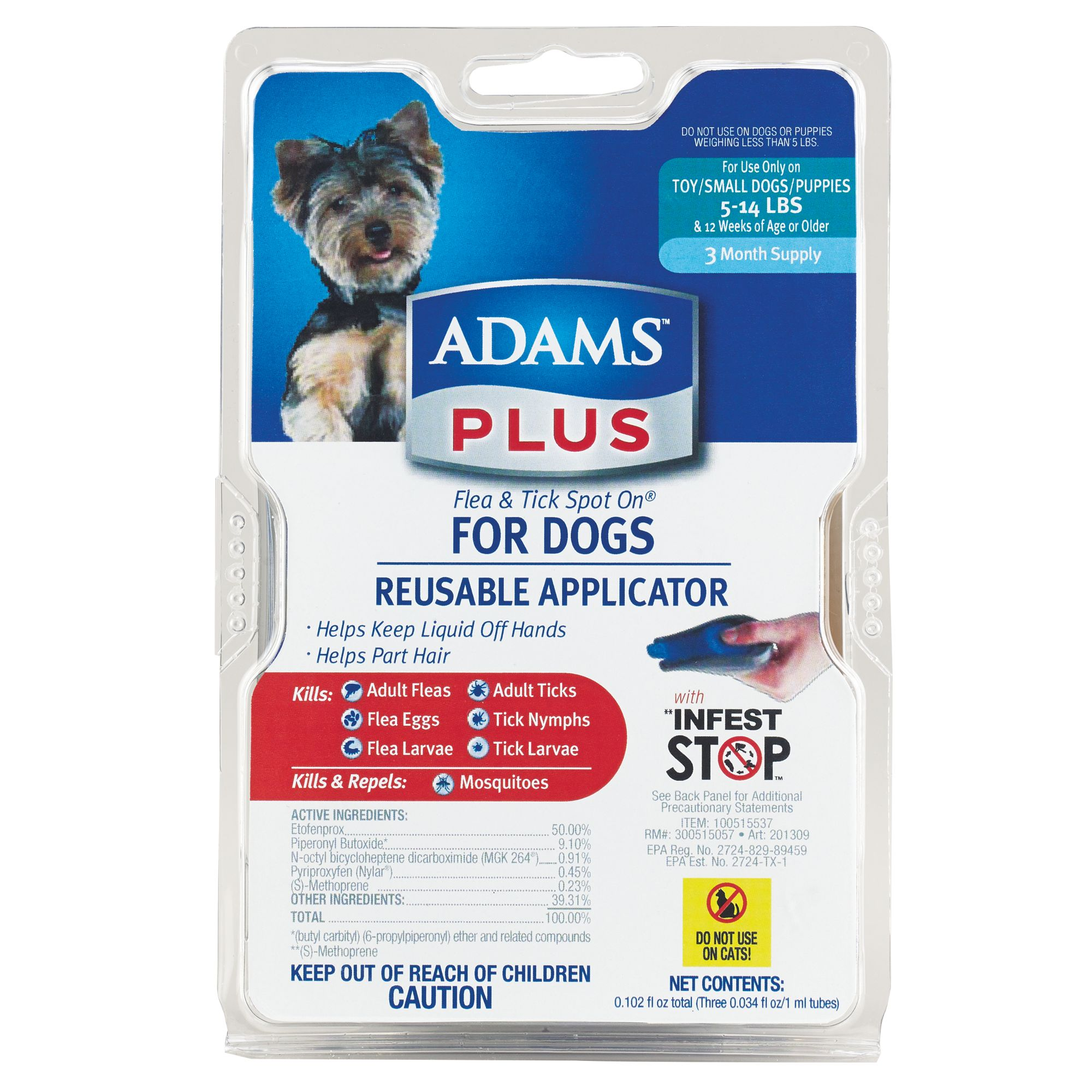 Adams Plus 5 14lb Dog Flea And Tick Protection Size 5 14 Lbs