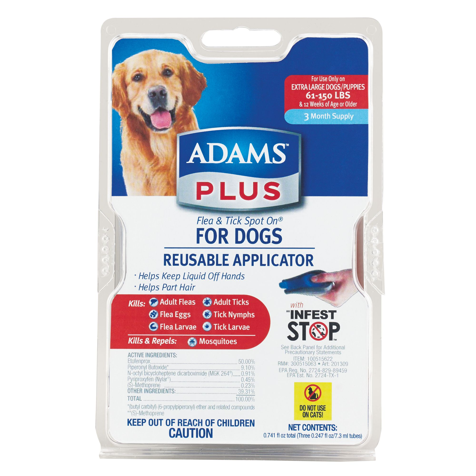 Adams Plus 61 150lb Dog Flea And Tick Protection Size 61 Lbs And Over