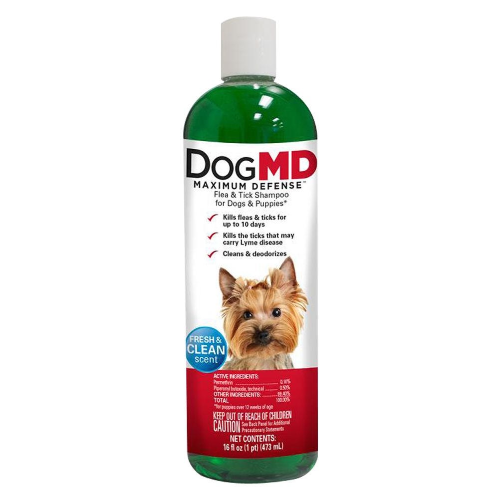 Dog Md Maximum Defense Flea And Tick Dog And Puppy Shampoo
