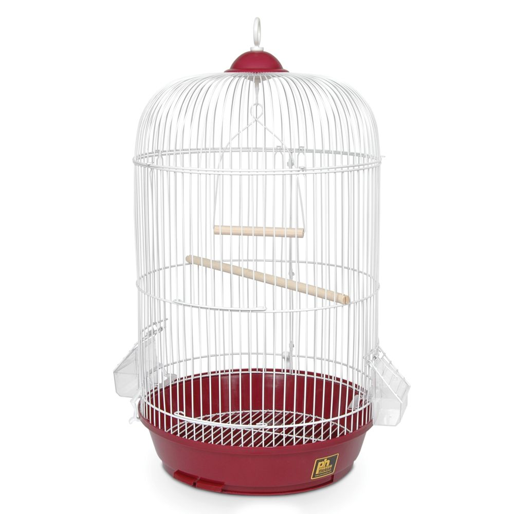 "Prevue Pet Products Classic Round Bird Cage size: 16""L x 16""W x 21""H, Red 5215851"