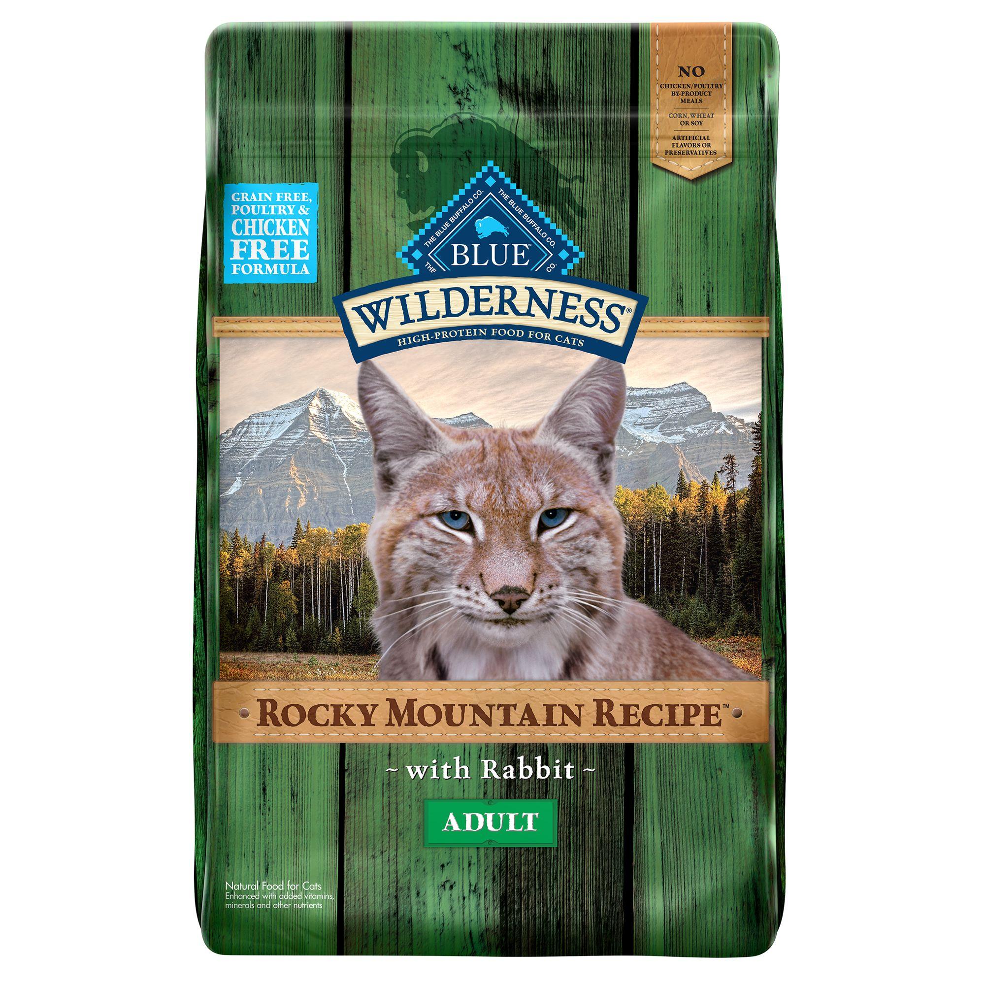 Blue Wilderness Rocky Mountain Recipe, Grain Free Rabbit Adult Cat Food size: 10 Lb, Blue Buffalo