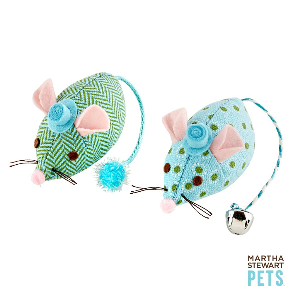 Martha Stewart Pets® Patterned Plush Mouse Cat Toy, Multi-Color 5216376